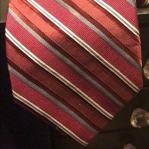 7/$20 Burgundy Calvin Klein Tie 100% Silk